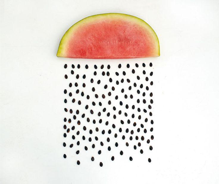 sarah illenberger: good weather exhibitionInspiration, Watermelon Art, Summer Rain, Seeds, Watermelon Rain, Sarah Illenberger, Foodart, Food Art, Design