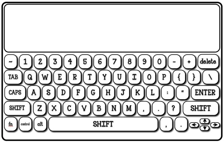 Free Keyboard Printable | 2nd grade | Pinterest