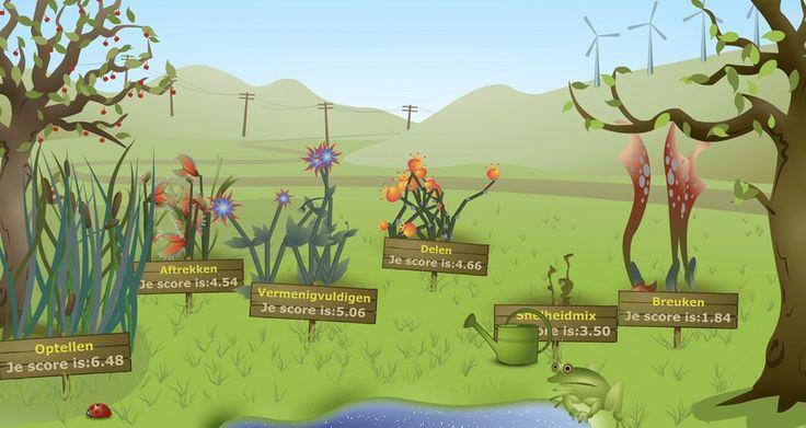Rekentuin is een adaptieve webapplicatie voor het oefenen en meten van rekenvaardigheden in het Primair en Voortgezet onderwijs.     In de Rekentuin kunnen spelers een tuintje met plantjes onderhouden door regelmatig rekenspelletjes te spelen. Ieder plantje in de tuin staat voor een rekendomein en een bijbehorend rekenspelletje. Het plantje groeit afhankelijk van het succes. Wanneer de spelletjes goed geoefend worden verschijnen er vanzelf weer nieuwe plantjes van nieuwe rekendomeinen.