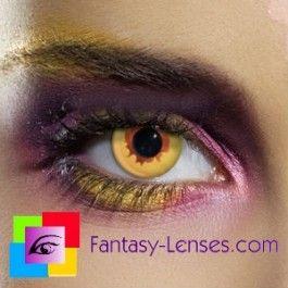 Farvede crazy kontaktlinser uden styrke Dæmon demon sjove farvede linser uden styrke med motiv Camouflage LentillasContactoColor.com