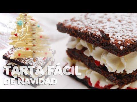 BIZCOCHO HÚMEDO DE CHOCOLATE CON NATA Y FRESA | Tarta fácil de Navidad - YouTube