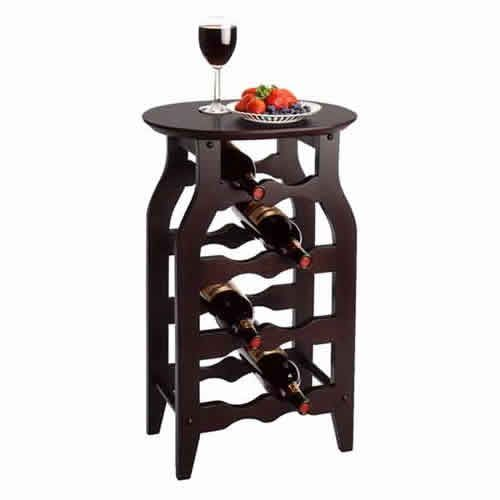 Winsome Oval Top 8 Bot Wine Rack. Great idea for wine storage in your house.