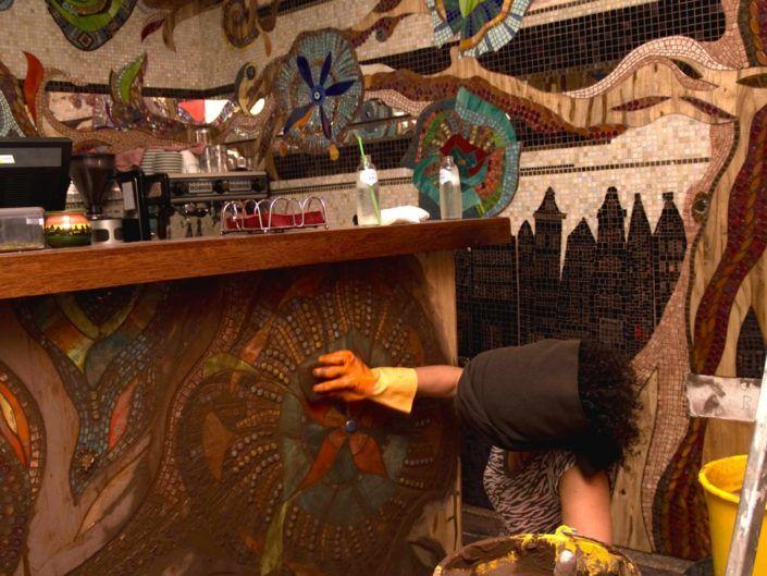 Abraxas Mozaiek Siomara Van Eer Mosaicaffairs Painting Art