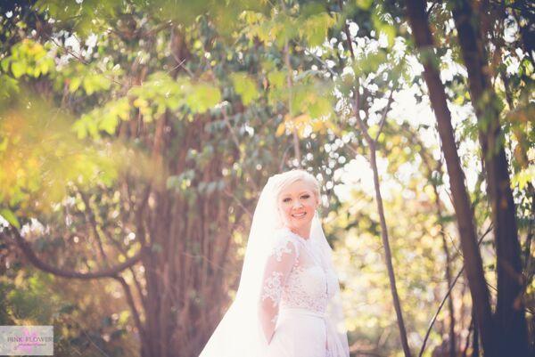 Pink Flower Bridal Details
