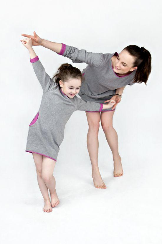 Matching mommy and me matchingoutfits :) The Same sweatshirt dress with pink mother daughter set Takie same tuniki dla mamy i córki tunika dresowa sukienka dresowa www.thesame.eu
