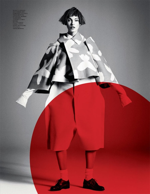 """Comme des Garcons - """"I don't feel too excited about fashion today. People just want cheap fast clothes and are happy to look like everyone else.""""  — Rei Kawakubo"""