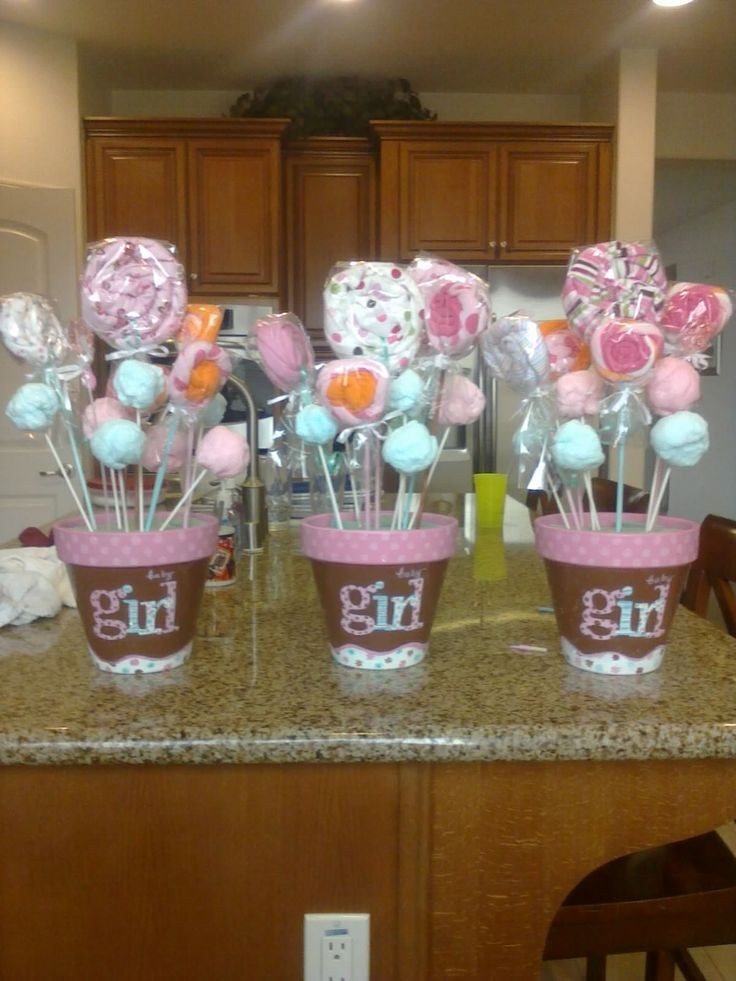 Baby Shower Center Pieces Grande Faucher Collins Arruda What If We Did This In The Buckets With Cake Pops