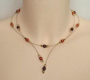Collier_mariage_chocolat_orange_or