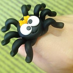 Spider in Fimo with tutorial