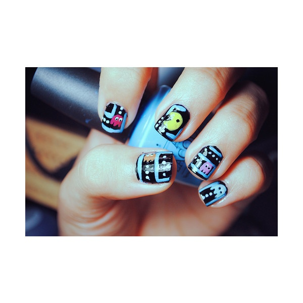 omg! my nails are pacman right now!Geek, Awesome Nails, Cute Nails, Nailart, Nails Design, Pac Man Nails, Nails Art Design, Pacman Nails, Nails Art Pens