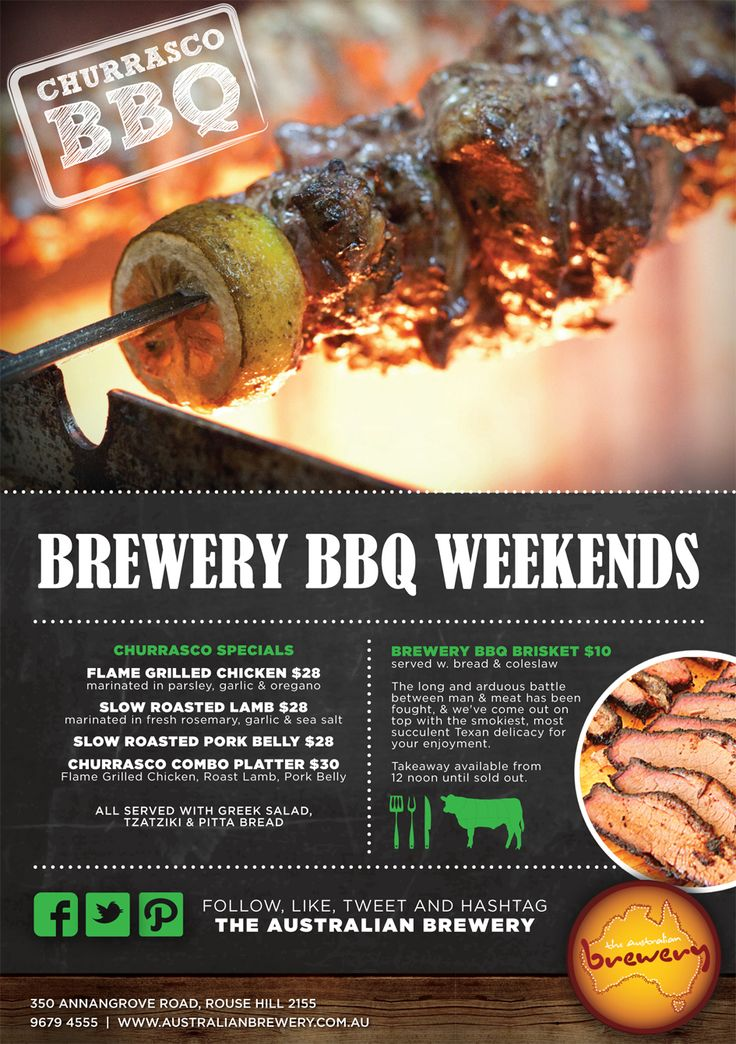 Weekend specials @ The Australian Hotel and Brewery