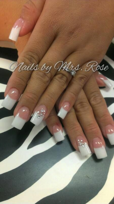 Tammy Taylor Nails Rose Soria Pink And White Acrylics