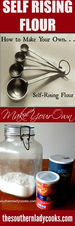 Did you ever get ready to make a recipe that calls for self-rising flour to find that you don't have any on hand?   Here is a handy tip on how to make a substitute …