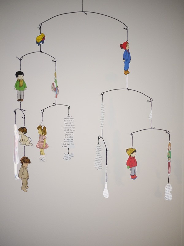 cut paper hanging mobile about a boy a girl mobiles and inspirational. Black Bedroom Furniture Sets. Home Design Ideas