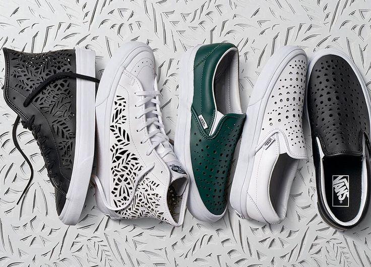 Vans beglückt uns mit dem Lasercut Women's Pack. 5 exklusive Vans-Sneaker mit Cut-Outs in Schwarz, Weiß und Grün für den Sommer.