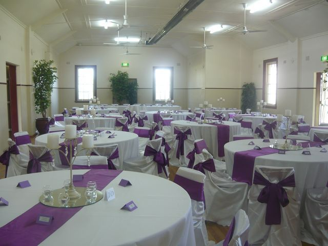 31 best wedding decorations hire australia images on pinterest like the purple table runner junglespirit Image collections