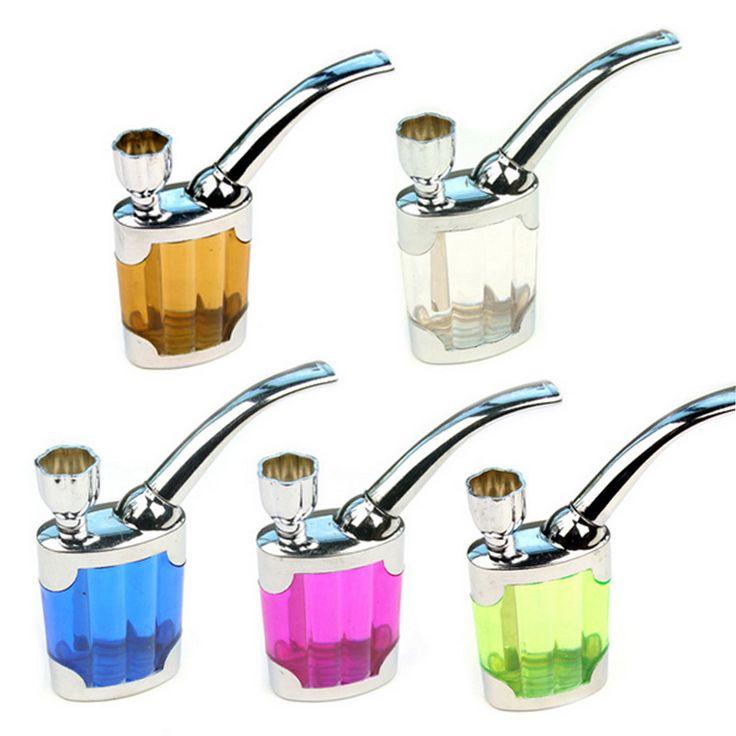 5 Colores Caliente Titular de Cigarrillos de Tabaco De Pipa de Agua De Doble Propósito Encendedores y Accesorios de Fumar Filtro de Líquido