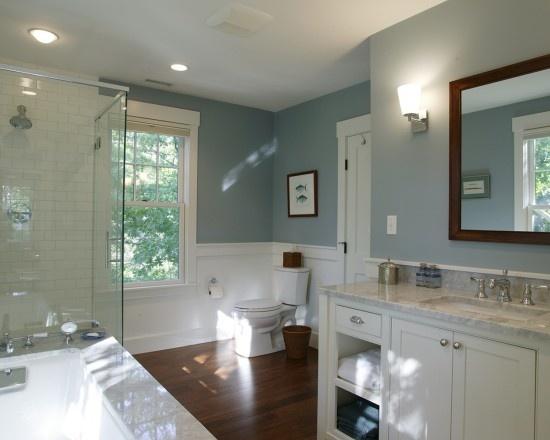tranquil bath: Wall Colors, Bathroom Design, Bathroom Color, Paint Colors, Traditional Bathroom, Bathroom Ideas, House, Frank Shirley, Master Bathroom