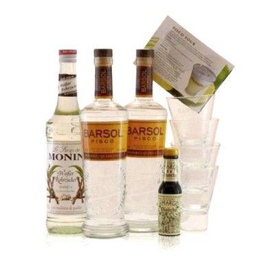 """Komplettes Cocktail-Set mit Pisco, Tumbler-Gläsern und Sirup für """"Pisco Sour"""": http://cocktail-glaeser.de/set/barsol-pisco-sour-set-lima-mit-tumbler-und-monin-sirup/"""