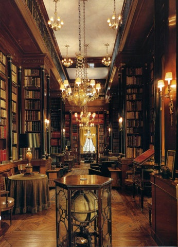 Haunted mansion library.