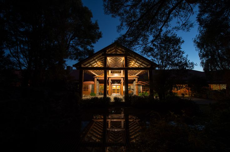 Front entrance at night...