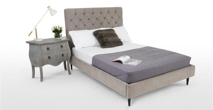 Skye Doppelbett (140 x 200 cm), Eulengrau   made.com