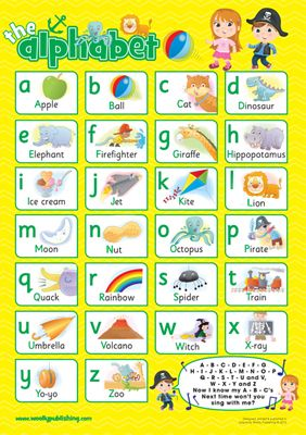 Ideal for bedrooms, playrooms & classrooms. – Teach your child the alphabet – Fonts for letters are identical to how children are taught to read and write in school. – Illustrations easily recognised by children http://www.marketdirect.ie/alphabet-yellow