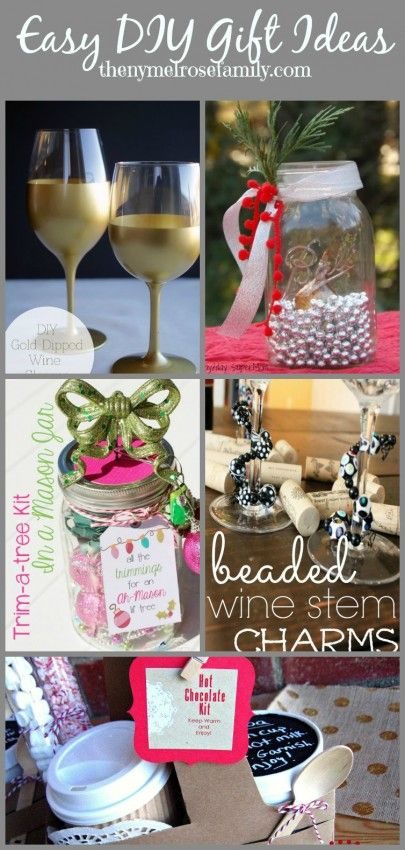 Easy DIY Gift Ideas, all are really great, some unique ones that I haven't seen and some with a creative presentation that I enjoy! Worth the look!