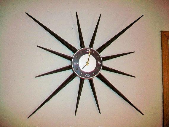 vintage retro starburst clock 36 inch sunburst by