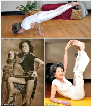 "The INSPIRATIONAL 93-year-old yoga master Tao Porchon-Lynch was recently named ""oldest yoga teacher"" by the Guinness World Records."