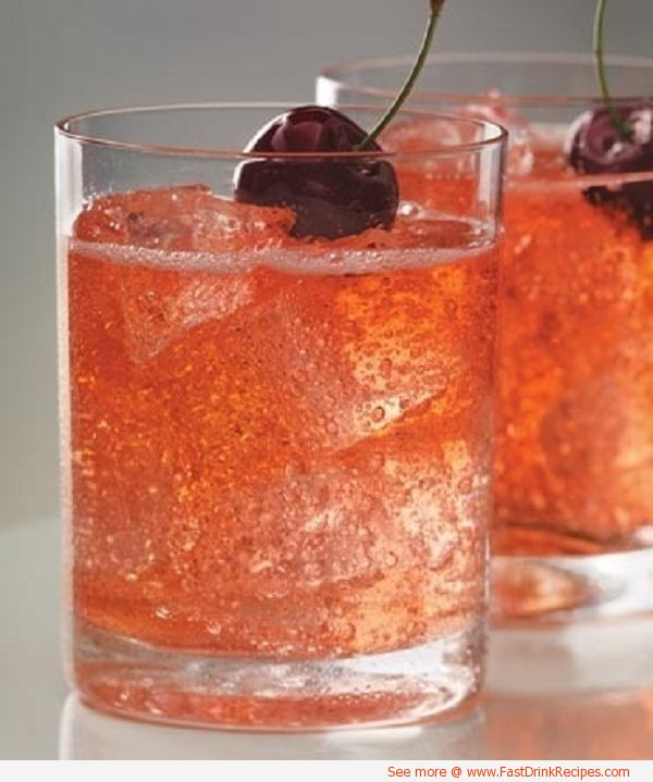 Dirty Shirley Ingredients: cherry vodka,grenadine,sprite Directions: Mix all ingredients in a glass & garnish with a cherry (optional)