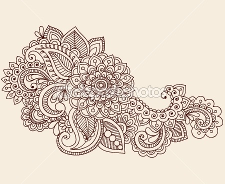Henna Mehndi Tattoo Doodles Vector Design Elements — Vettoriali Stock  #8693203