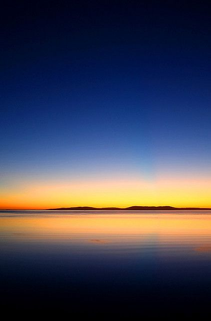So calm... Dawn over Boston Bay. Port Lincoln, South Australia.