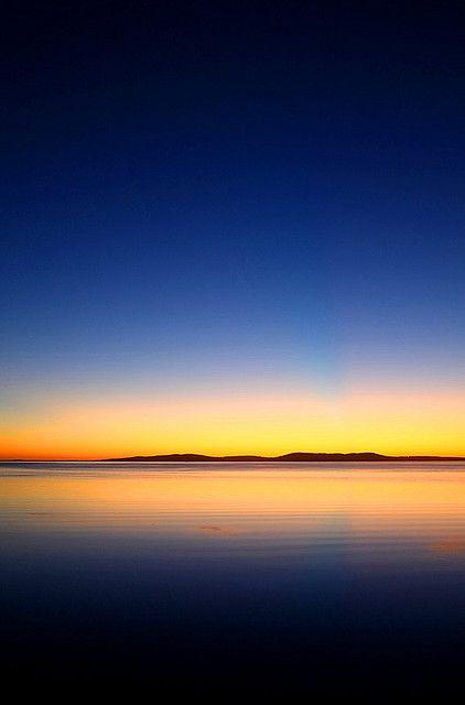 So calm... Dawn over Boston Bay. Port Lincoln, South Australia.