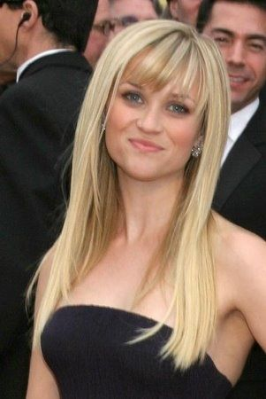 Long Blonde Hair With Pretty Fringe