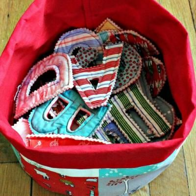 Rag Quilt Letters & Numbers Tutorial - make out of newborn baby clothes?