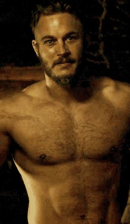Travis Fimmel from Vikings.  Hello, Ragnar.  We would like you just to do the show shirtless.