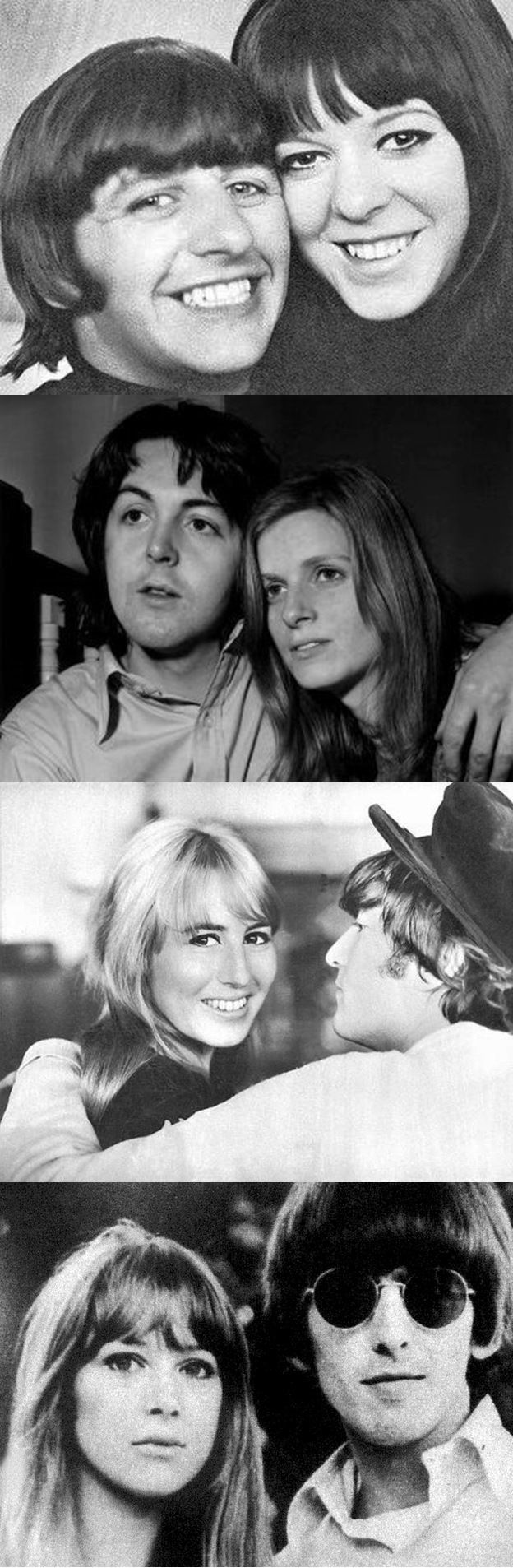 The Beatles And Their First Wives ~ Ringo & Maureen ~ Paul And Linda ~ John & Cynthia & George & Pattie
