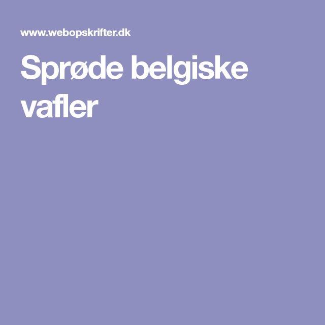 Sprøde belgiske vafler