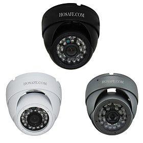 960p hosafe sicurezza 1.3MP metallo impermeabile telecamera dome IP con 24 IR LED