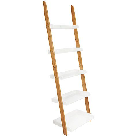 House By John Lewis Bamboo 5 Tier Bathroom Shelf Natural At Johnlewis