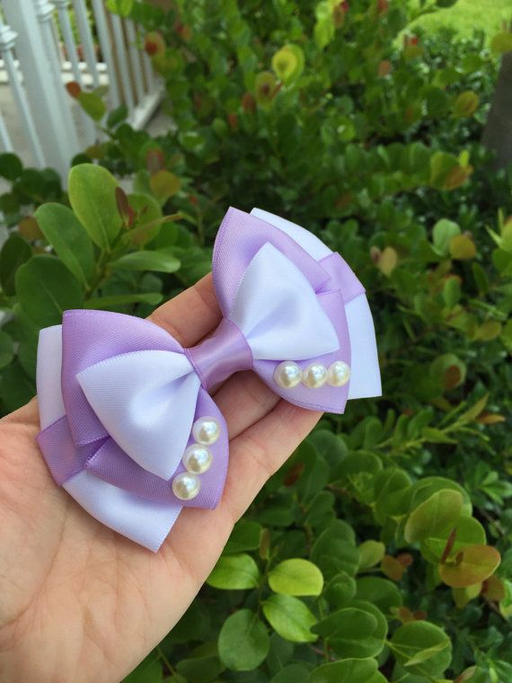 Princess Sofia inspired hairbow by Dreamloveandbows on Etsy