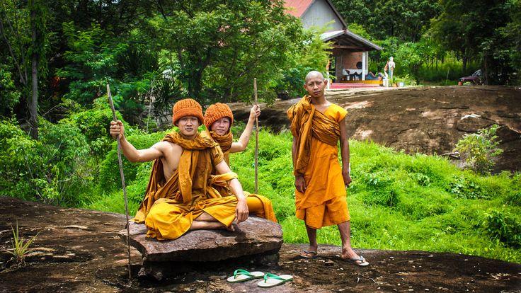 Northern Thailand Monks, Chaiyaphum Province, Rural