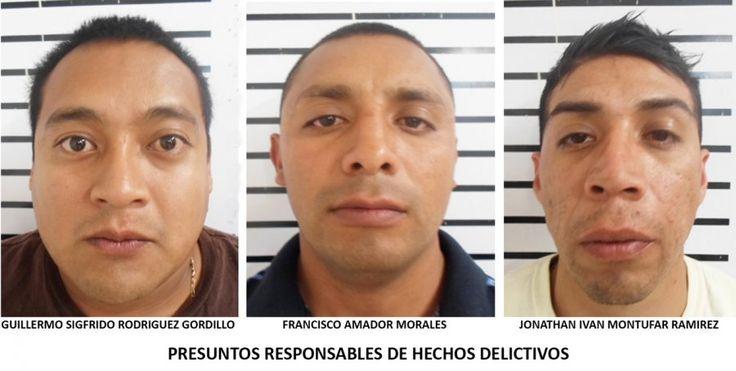 CONSIGNÓ PGJDF TRES PERSONAS ACUSADAS DE ROBO A CASAS