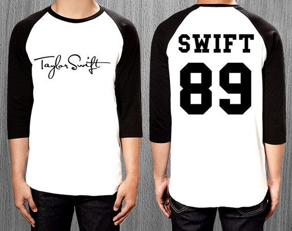 Taylor Swift 1989 Shirts Swift 89 Shirt - 3/4 Long sleeve baseball tee - $21.99 @priscilaj