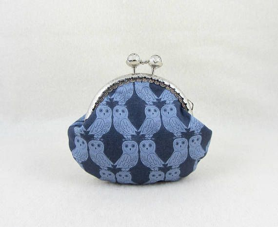 Owl coin purse change purse frame coin pouch gift for her