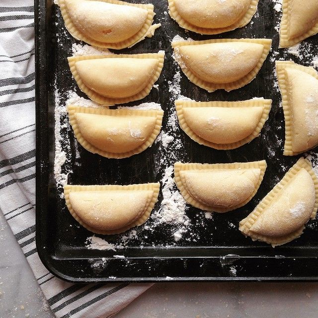 Homemade Pierogies // Shelly West. Find this recipe and more Christmas Eve dinner inspiration on our Christmas Eve Feed at https://feedfeed.info/christmas-eve?img=232872 #feedfeed