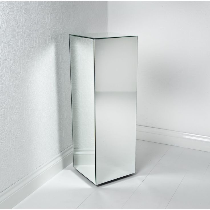 Mirrored Pedestal Column  Google Search  Board 2. Lowes Apron Sink. End Table Decor. Freedom Rail. Fireplaces. Costco Bathroom Faucets. Stained Glass Ceiling Light. Modern Leather Chair. Bathroom Mirrors Ikea