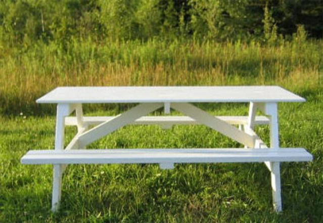 Build Yourself a Picnic Table with One of These 14 Free Plans: Wayne of Woods Free Outdoor Picnic Table Plan
