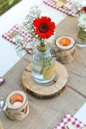 tendance mariage, tendance décoration mariage bois, décoration rustique…